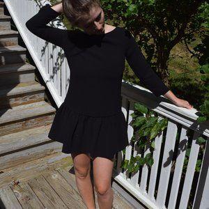J. Crew drop waist crepe dress in black